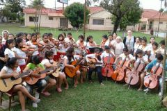 Lezione di musica all'aperto