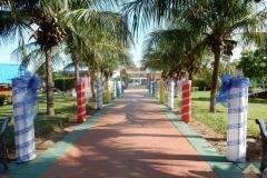 Hogar Mariele: viale dell'ingresso