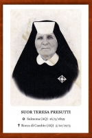Suor Teresa Presutti